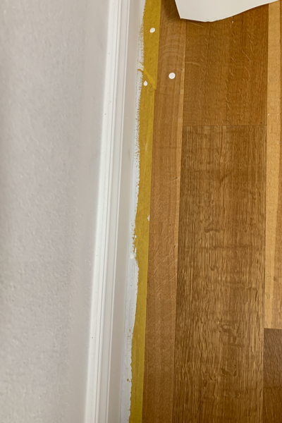 Frog Tape for the perfect line. $frogtape #paint #prep