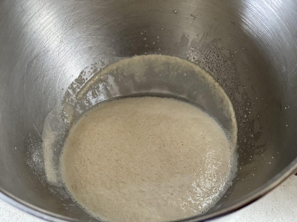 Yeast mixture for cinnamon rolls