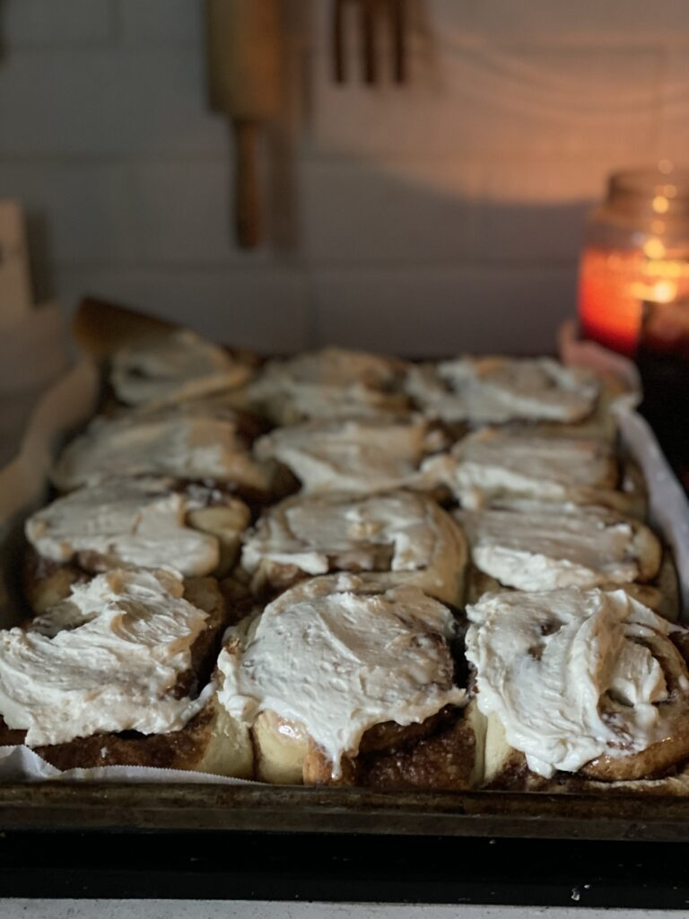 Gooey cinnamon roll recipe with fluffy soft center