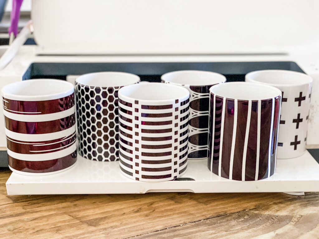 Cute coordinating black and white mugs
