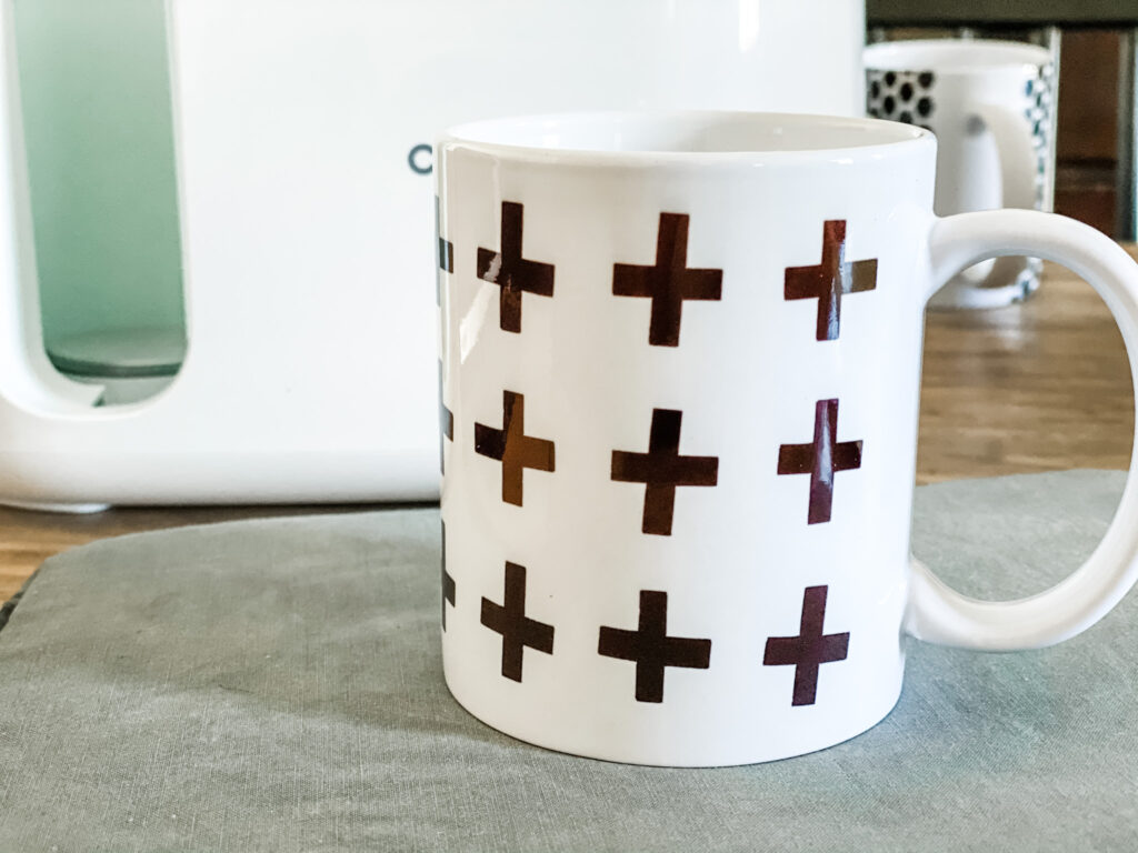 Swiss cross design mug